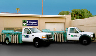 Rayne of Palm Springs service trucks